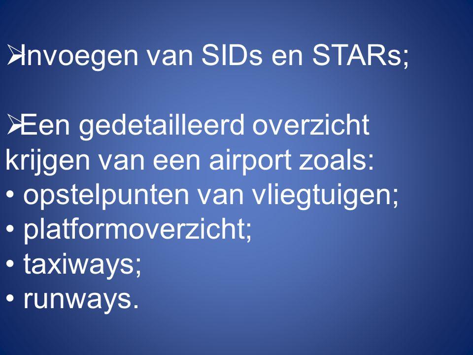 Invoegen van SIDs en STARs;