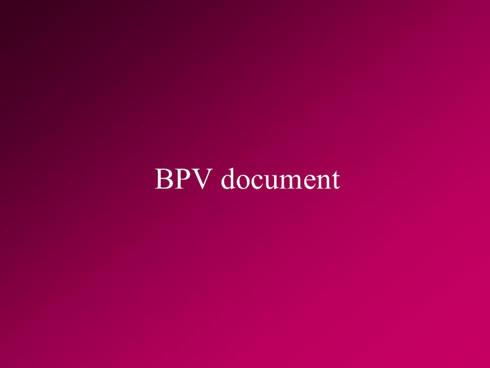 BPV document