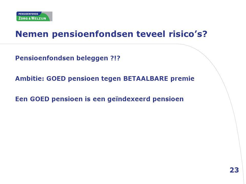Nemen pensioenfondsen teveel risico's