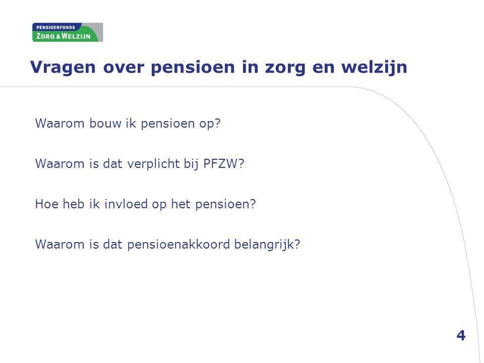Vragen over pensioen in zorg en welzijn