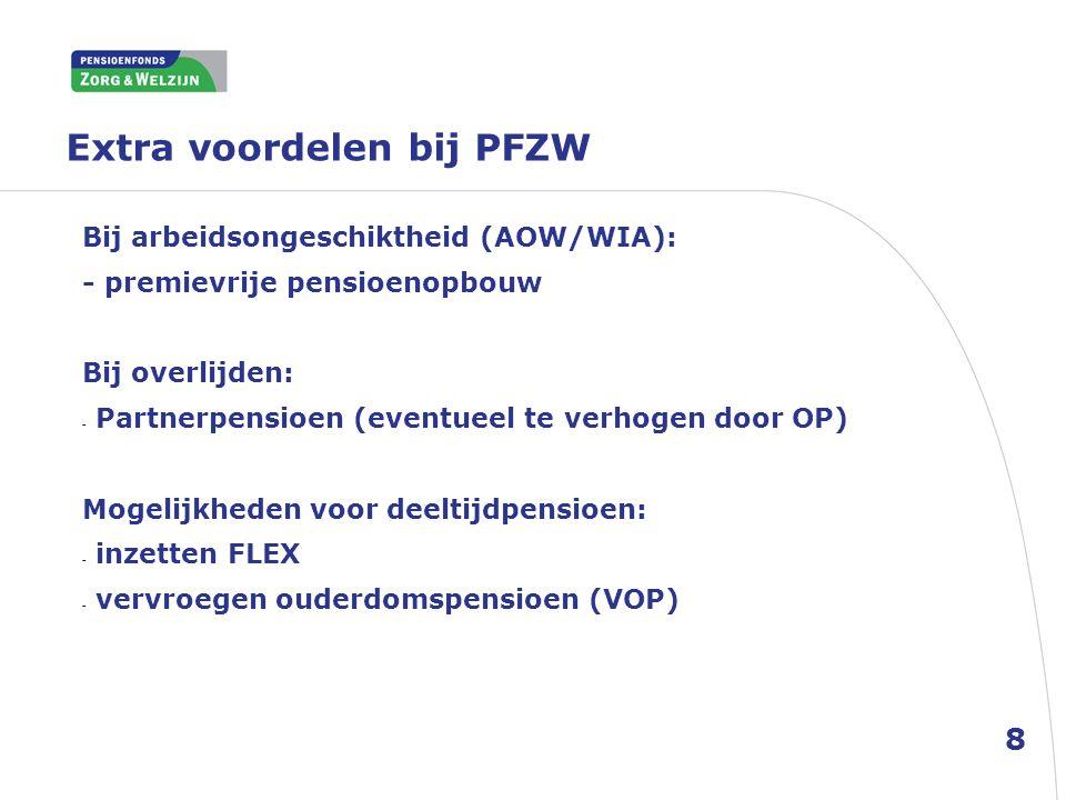 Extra voordelen bij PFZW