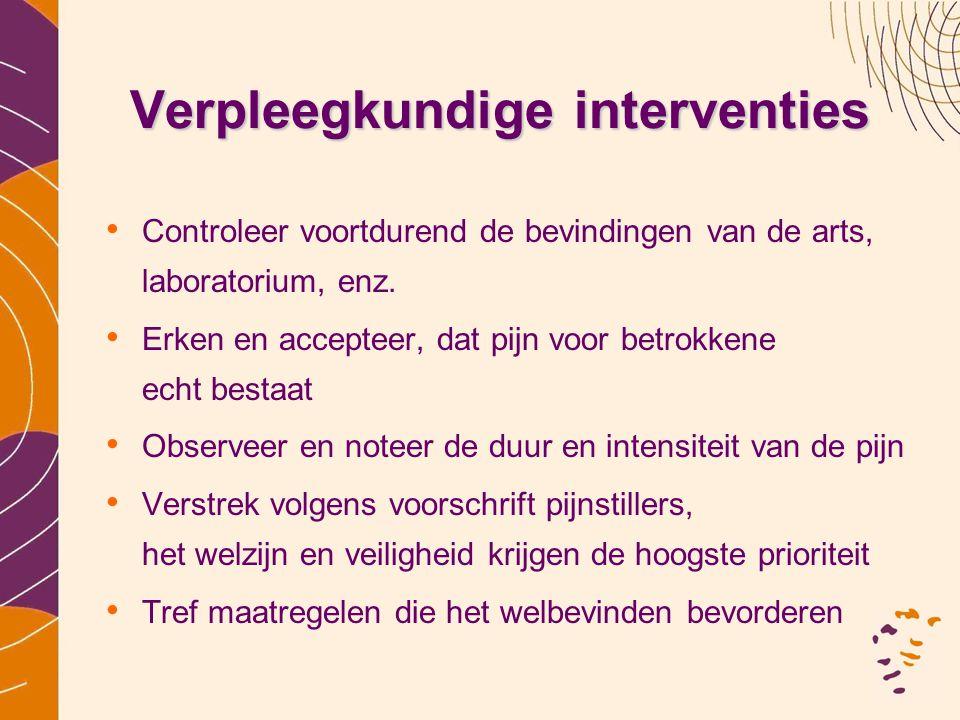 Verpleegkundige interventies