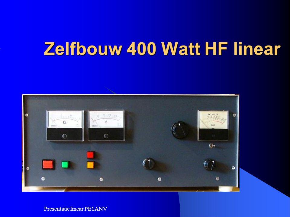 Zelfbouw 400 Watt HF linear