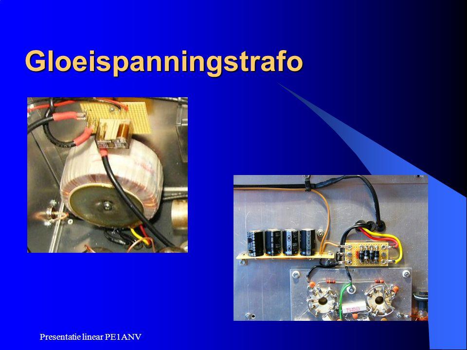 Gloeispanningstrafo Presentatie linear PE1ANV