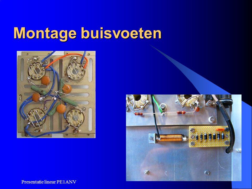 Montage buisvoeten Presentatie linear PE1ANV