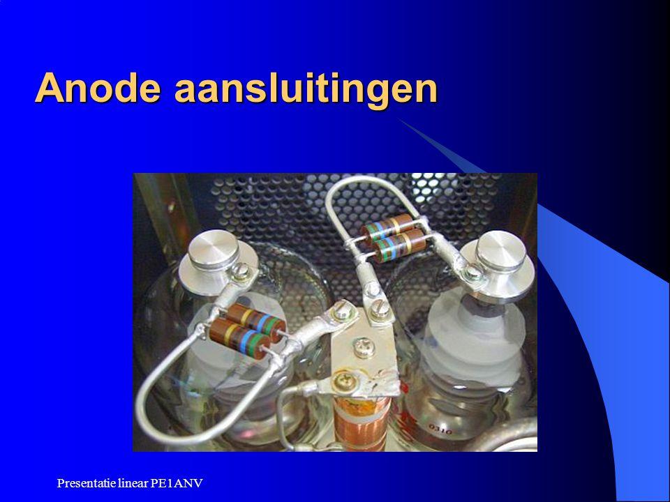 Anode aansluitingen Presentatie linear PE1ANV