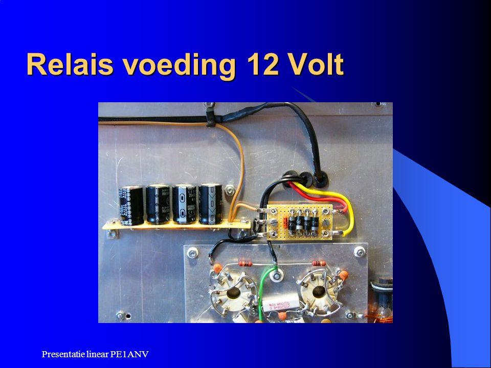 Relais voeding 12 Volt Presentatie linear PE1ANV