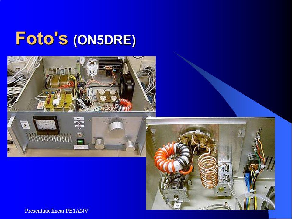 Foto s (ON5DRE) Presentatie linear PE1ANV