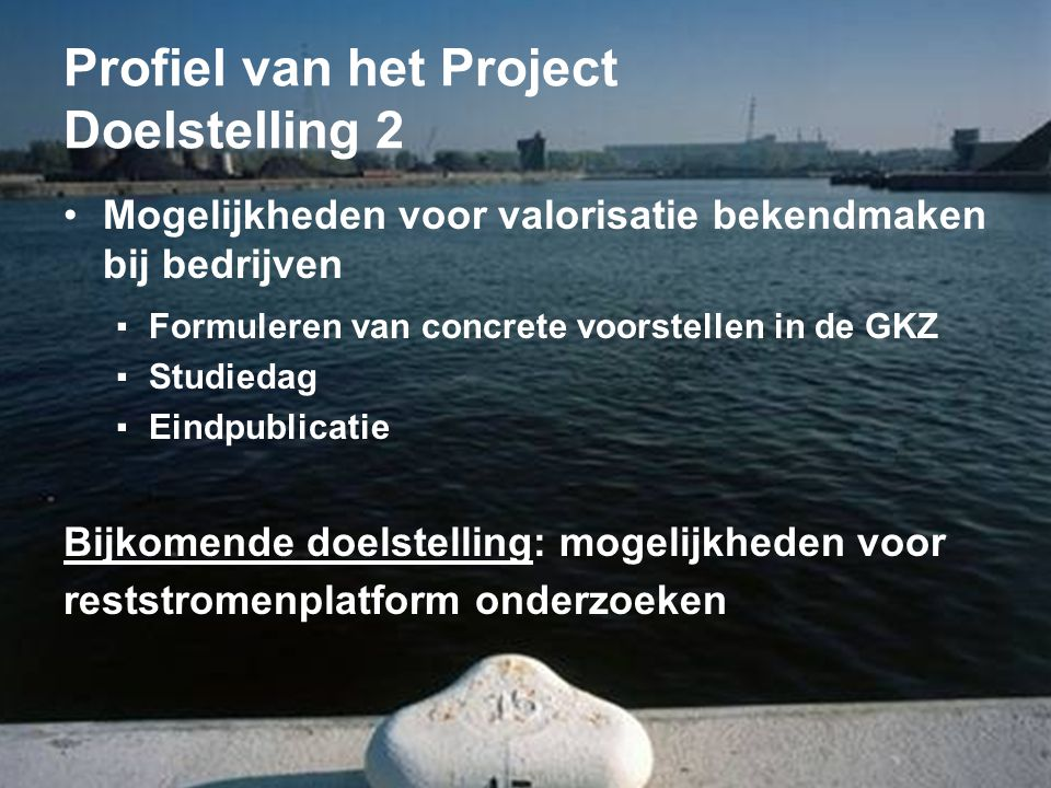 Profiel van het Project Doelstelling 2