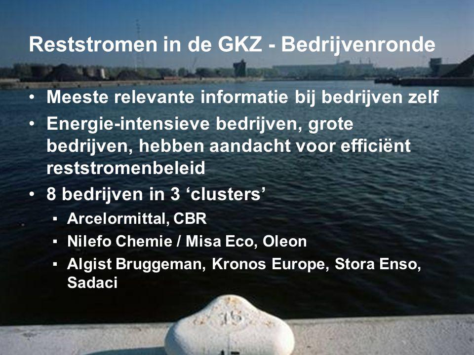 Reststromen in de GKZ - Bedrijvenronde