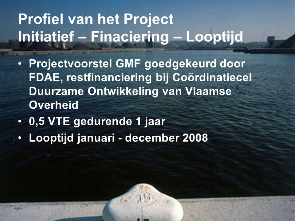 Profiel van het Project Initiatief – Finaciering – Looptijd