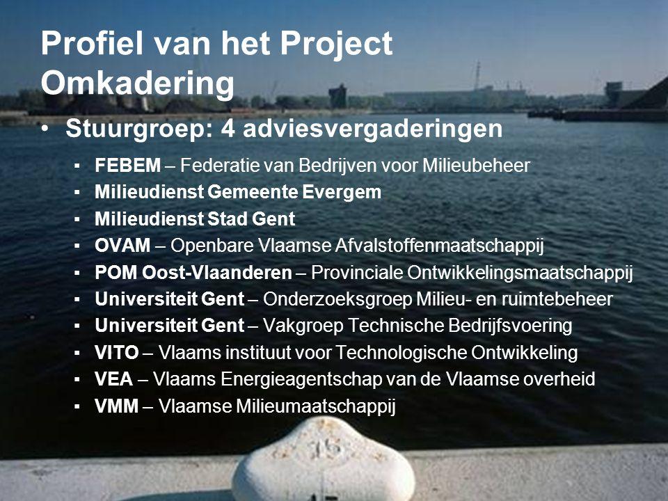 Profiel van het Project Omkadering