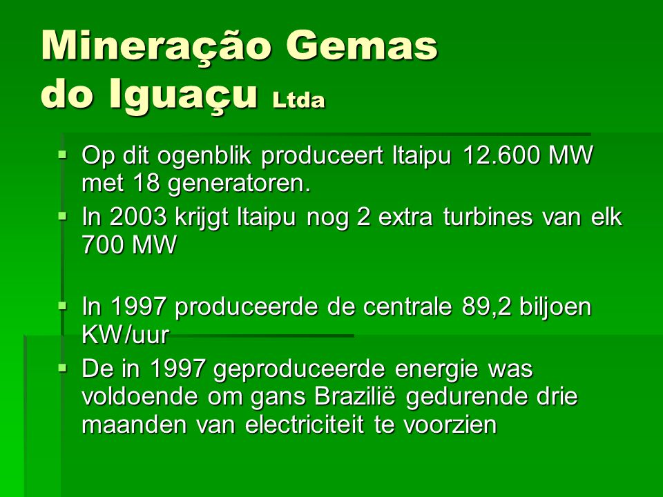 Mineração Gemas do Iguaçu Ltda