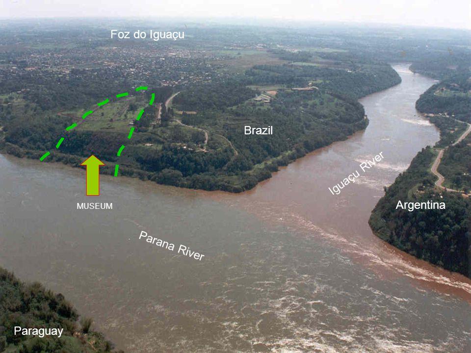 Foz do Iguaçu Brazil Iguaçu River Argentina Parana River Paraguay
