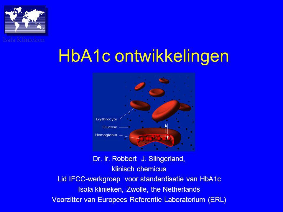 HbA1c ontwikkelingen Isala Klinieken Dr. ir. Robbert J. Slingerland,