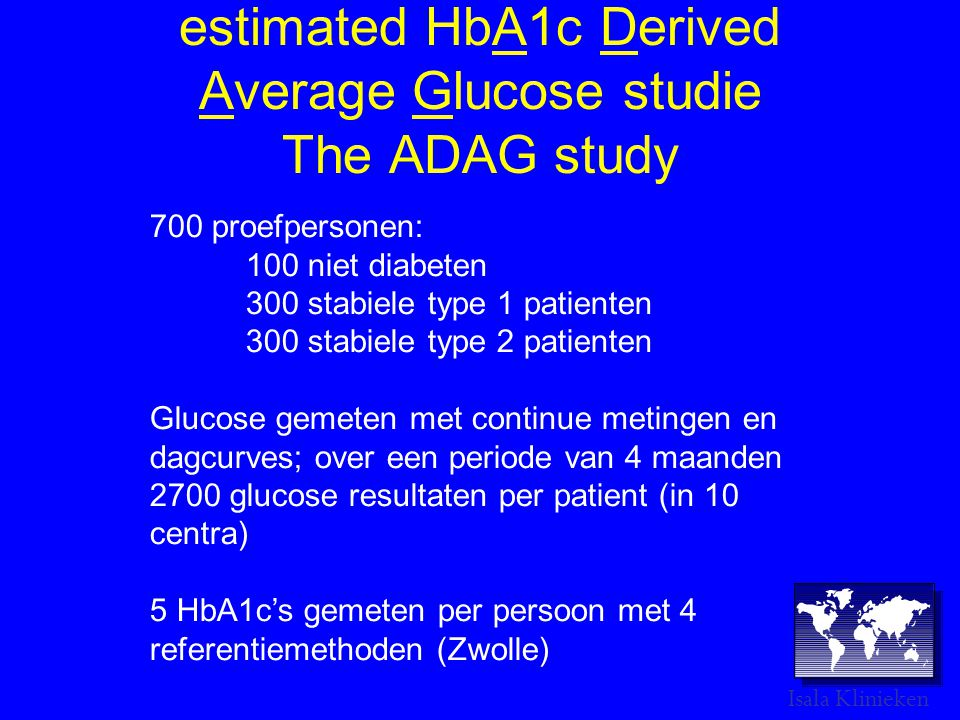 estimated HbA1c Derived Average Glucose studie The ADAG study