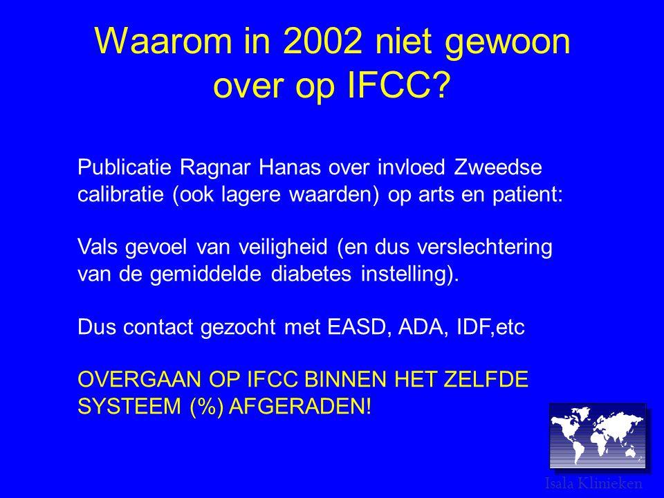 Waarom in 2002 niet gewoon over op IFCC