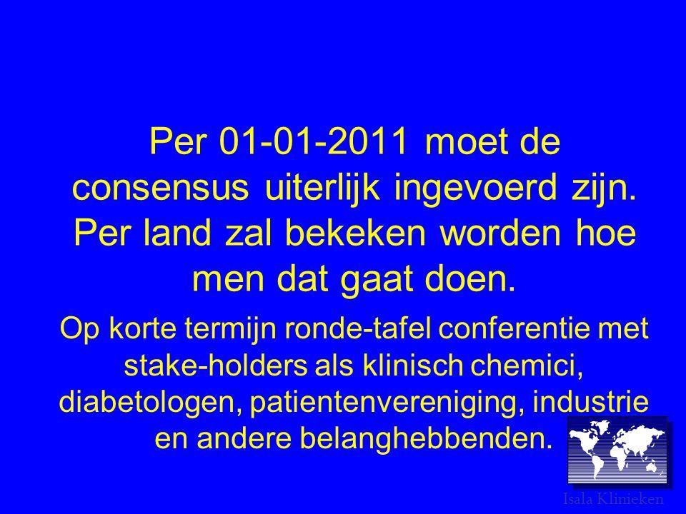 Per 01-01-2011 moet de consensus uiterlijk ingevoerd zijn
