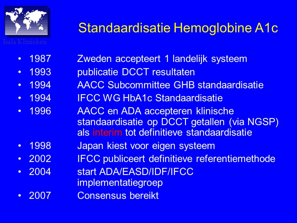 Standaardisatie Hemoglobine A1c