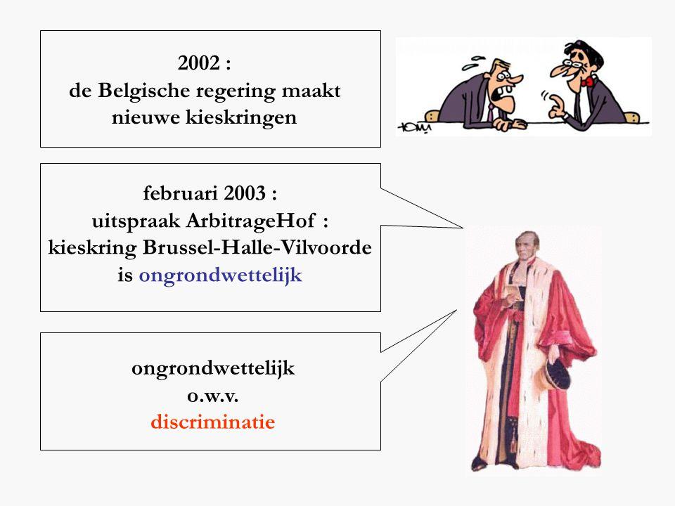 de Belgische regering maakt nieuwe kieskringen