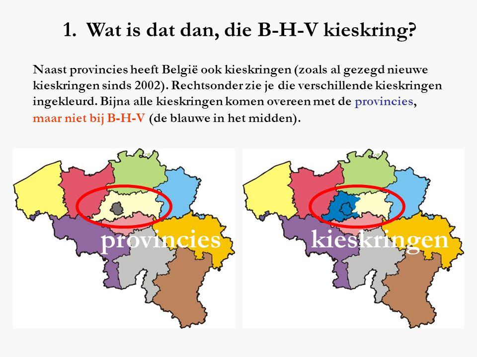 provincies kieskringen Wat is dat dan, die B-H-V kieskring