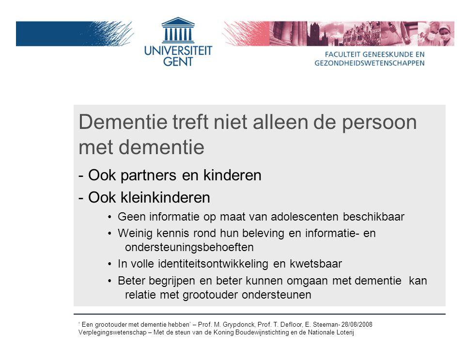 Dementie treft niet alleen de persoon met dementie
