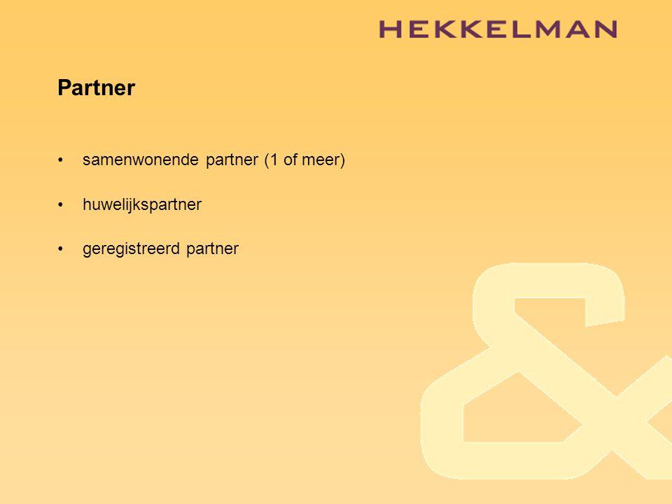 Partner samenwonende partner (1 of meer) huwelijkspartner