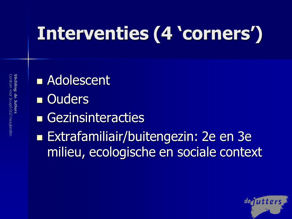 Interventies (4 'corners')
