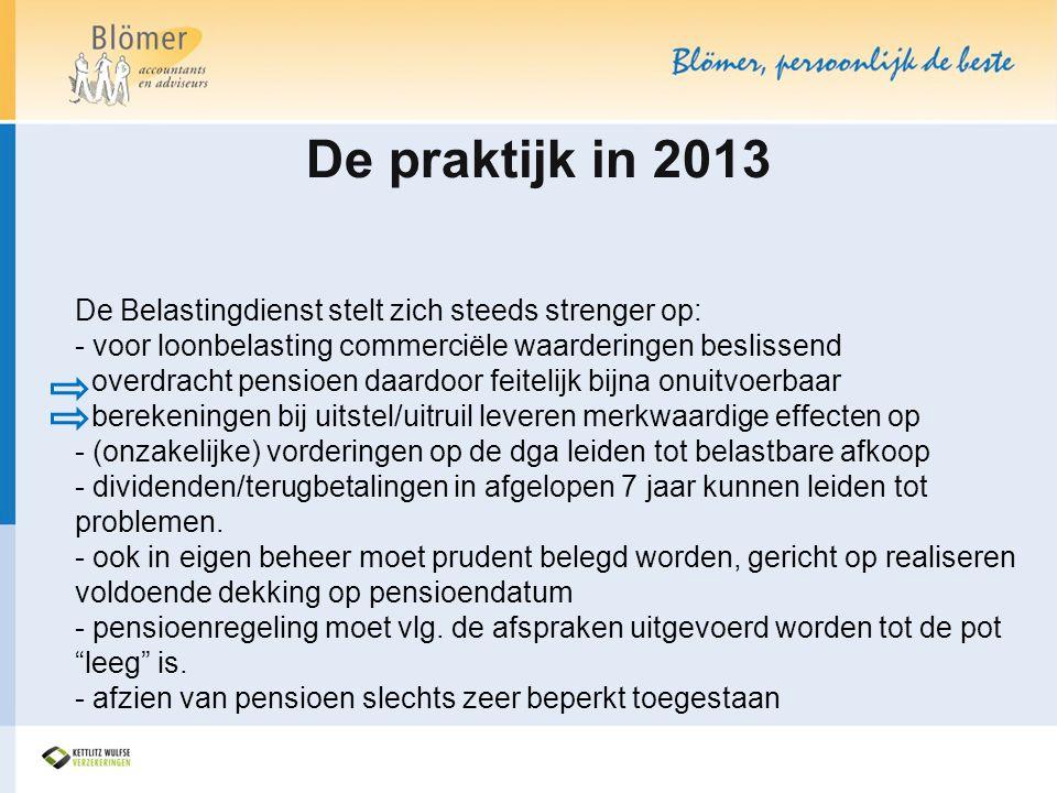 De praktijk in 2013