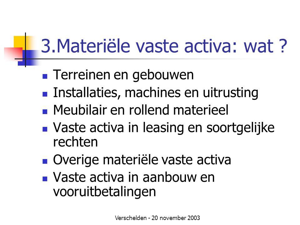 3.Materiële vaste activa: wat