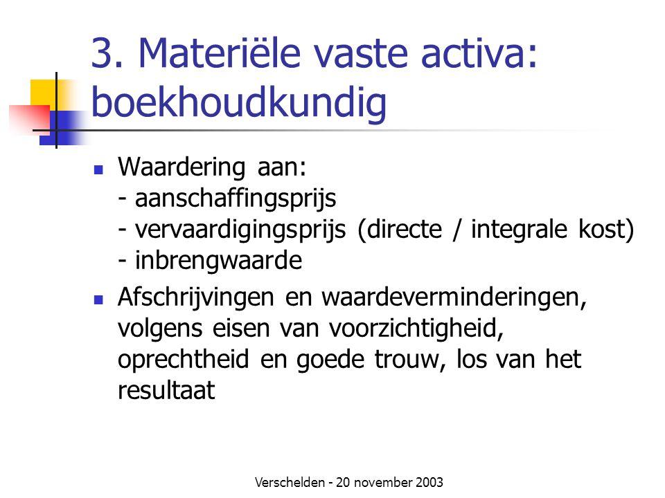 3. Materiële vaste activa: boekhoudkundig