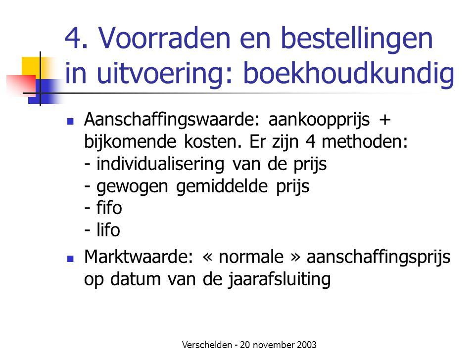 4. Voorraden en bestellingen in uitvoering: boekhoudkundig