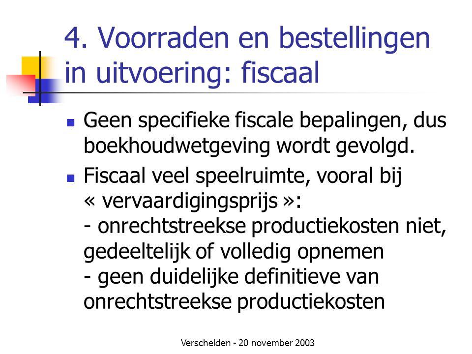 4. Voorraden en bestellingen in uitvoering: fiscaal