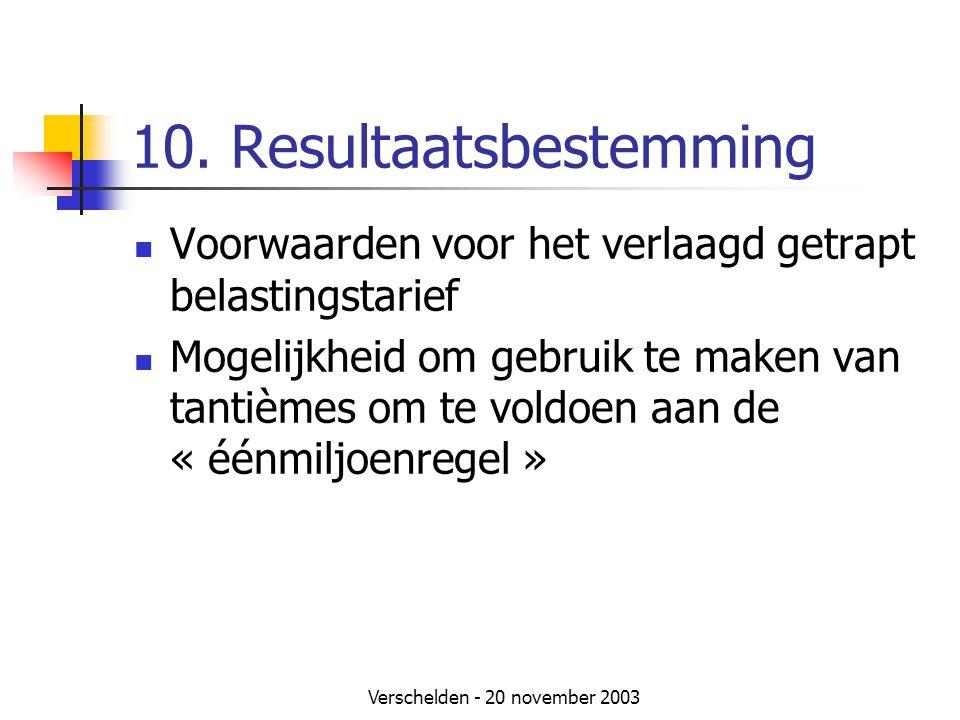 10. Resultaatsbestemming