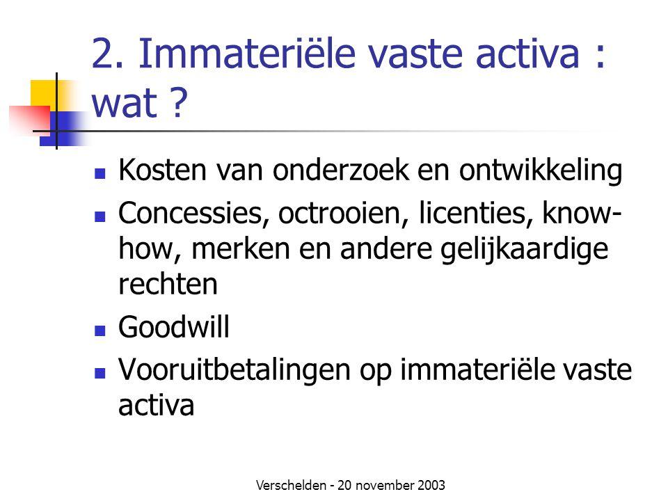 2. Immateriële vaste activa : wat