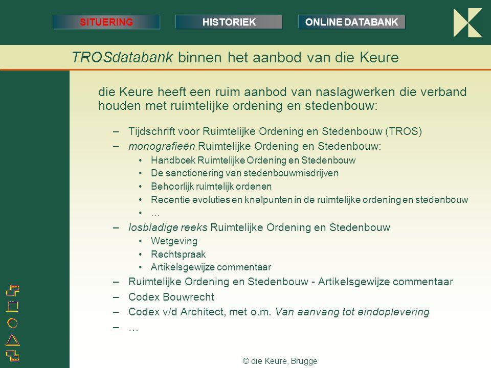 TROSdatabank binnen het aanbod van die Keure