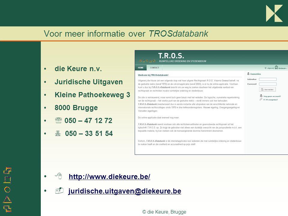Voor meer informatie over TROSdatabank