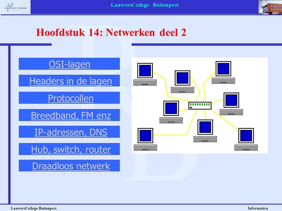 Hoofdstuk 14: Netwerken deel 2