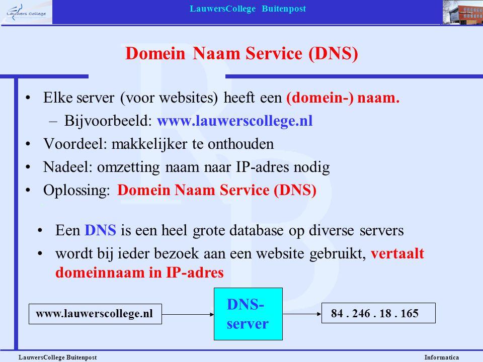 Domein Naam Service (DNS)