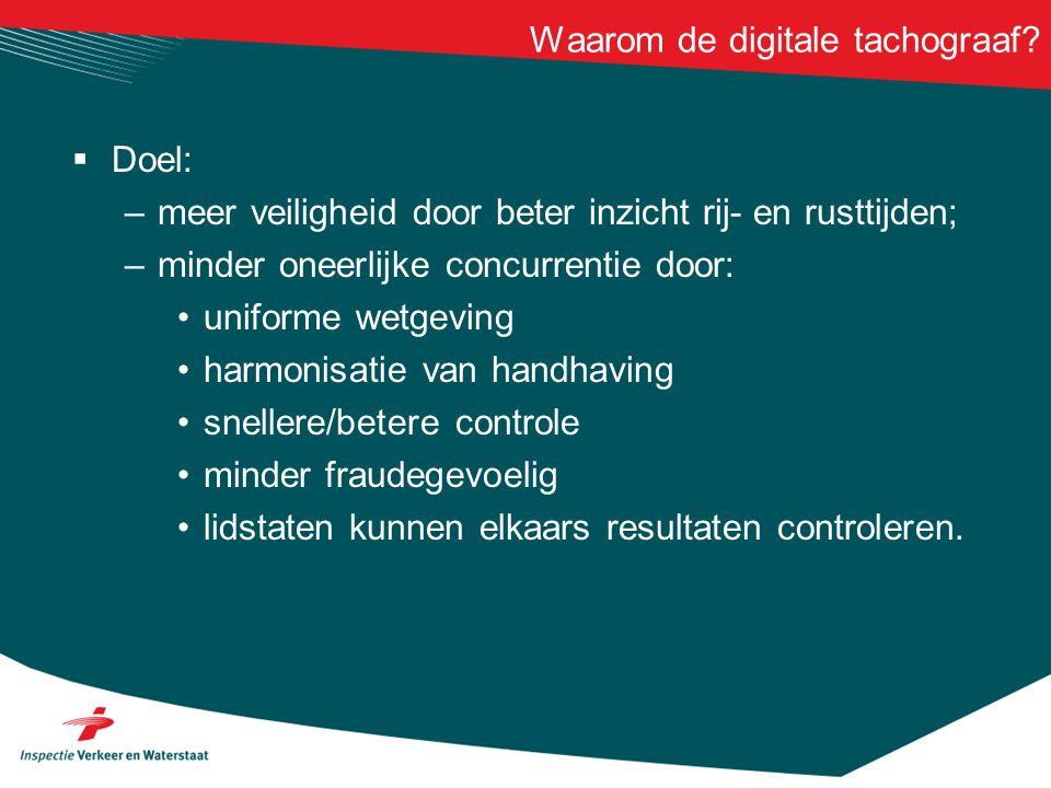Waarom de digitale tachograaf