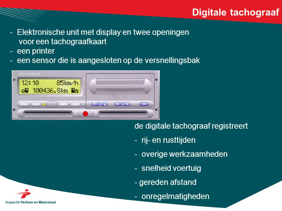 Digitale tachograaf - Elektronische unit met display en twee openingen