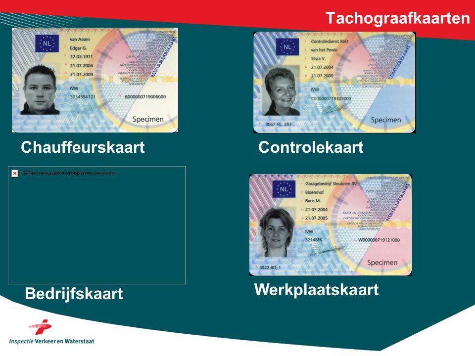 Tachograafkaarten Chauffeurskaart Controlekaart Werkplaatskaart Bedrijfskaart