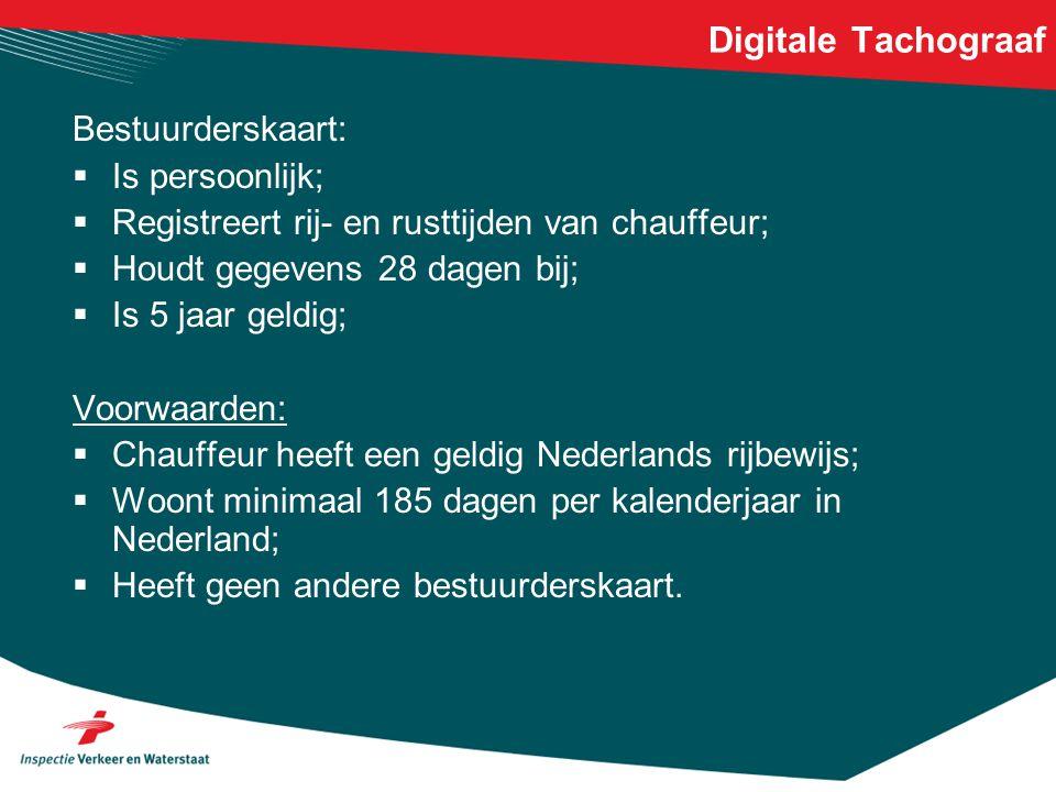 Digitale Tachograaf Bestuurderskaart: Is persoonlijk;