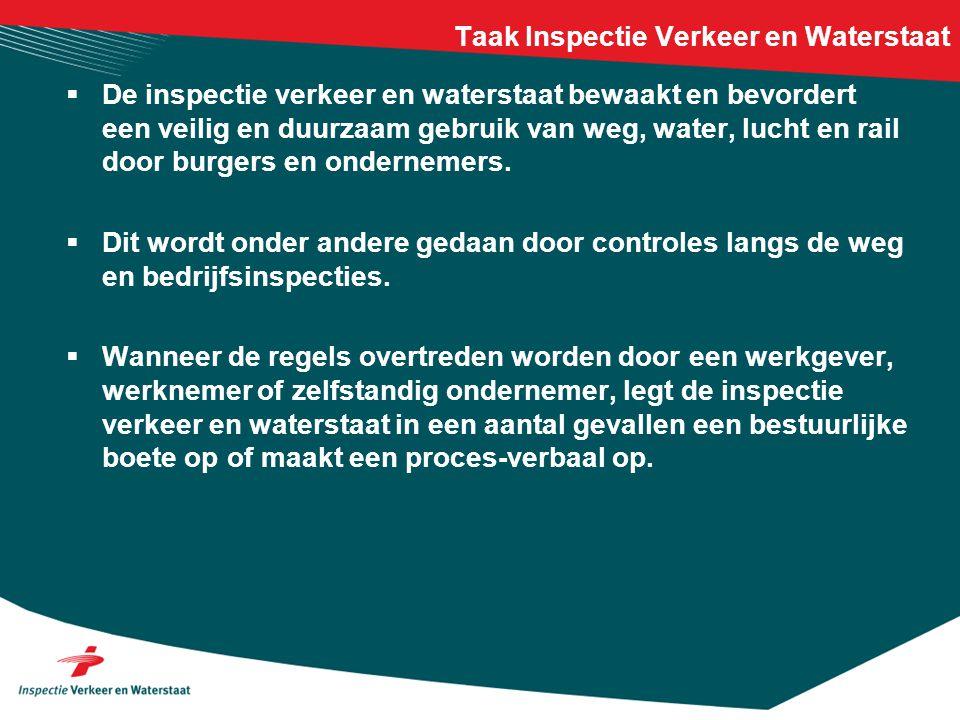 Taak Inspectie Verkeer en Waterstaat
