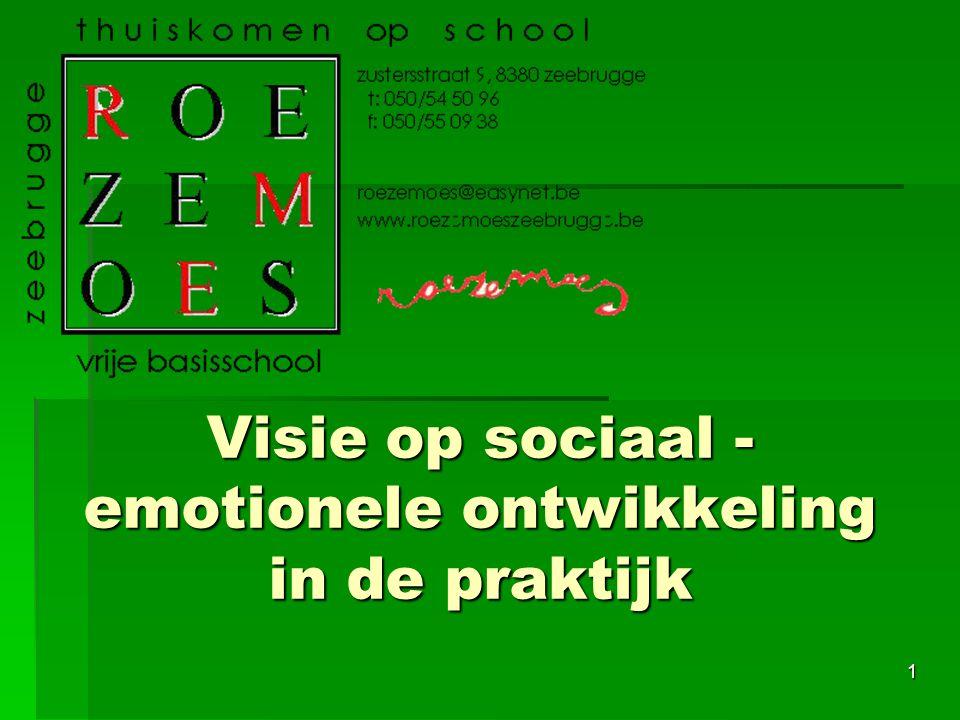 Visie op sociaal - emotionele ontwikkeling in de praktijk