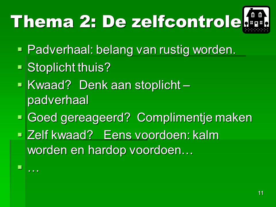 Thema 2: De zelfcontrole