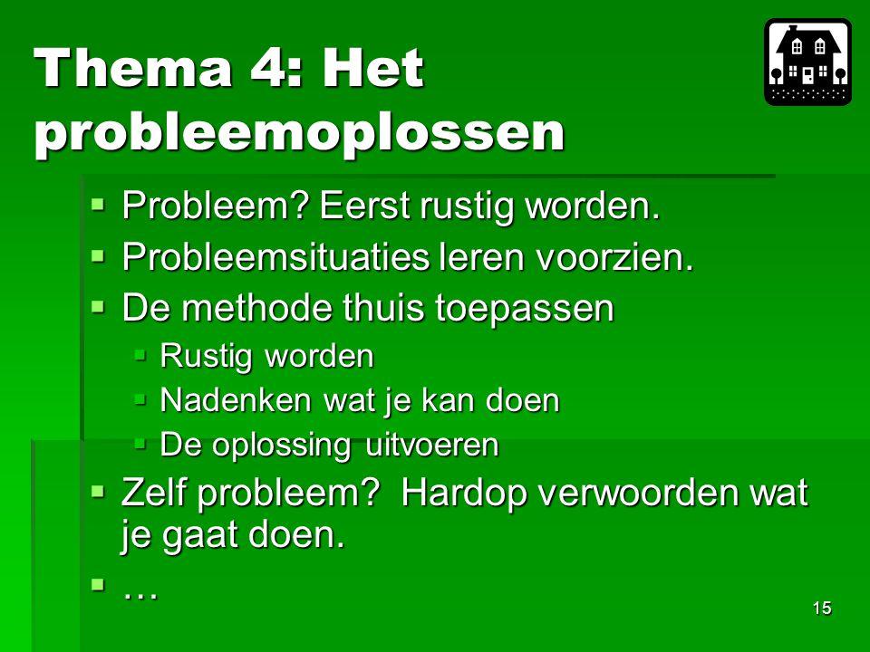 Thema 4: Het probleemoplossen