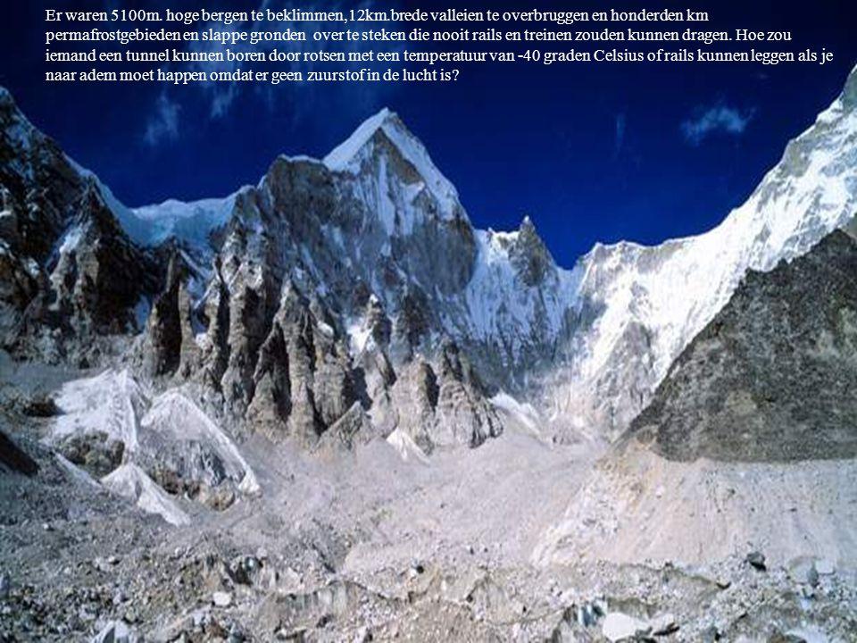 Er waren 5100m. hoge bergen te beklimmen,12km