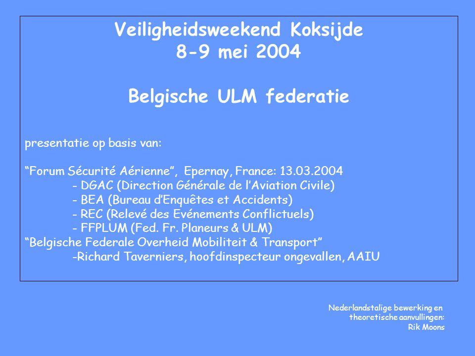 Veiligheidsweekend Koksijde Belgische ULM federatie