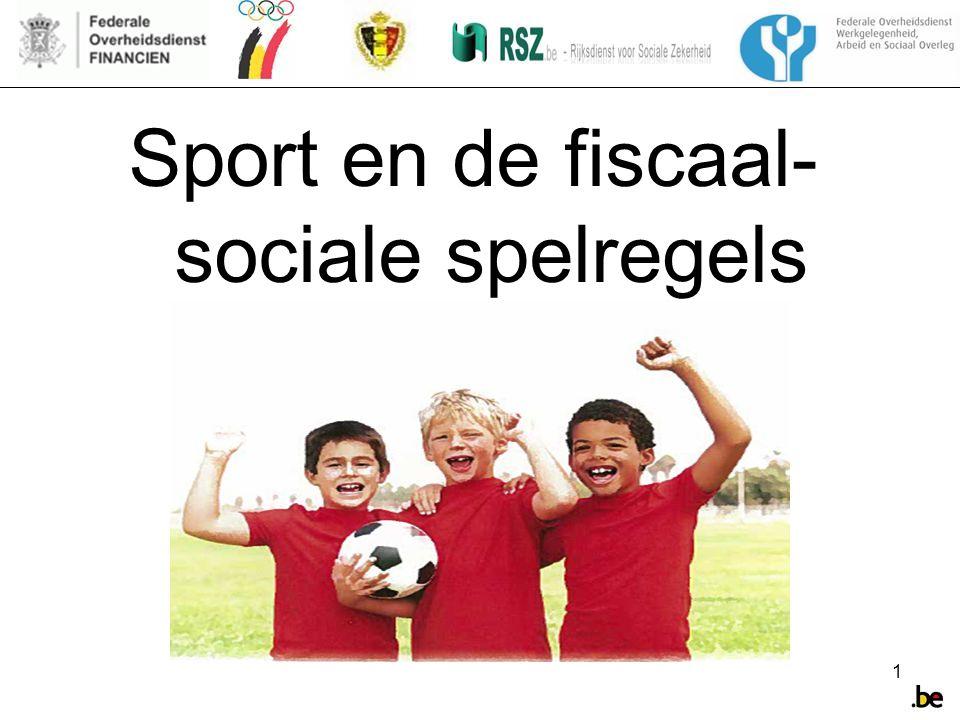 Sport en de fiscaal-sociale spelregels
